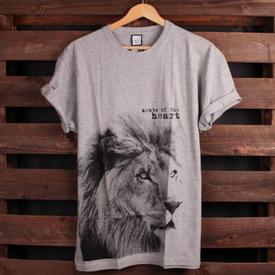 T-shirt Lion - Beats of the heart | sivé