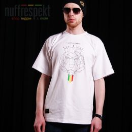 Tričko - Nuff Lion Roots Wear 01213 - white