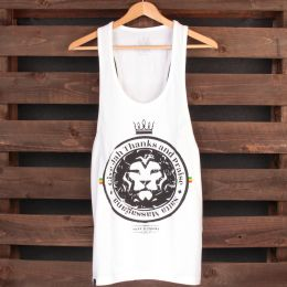 Tank top Satta Massagana Give Jah thanks and Praise | biely Unisex