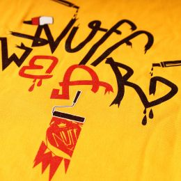 Dámsky top - Nuff Graffiti - yellow