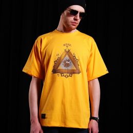 Pánske tričko - Nuff Wear - Wood & Chain 00513 - yellow
