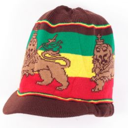 Čiapka na dready Lion of Judah | hnědá + Rasta