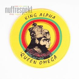 Nášivka King Alpha Queen Omega