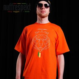 Tričko - Nuff Lion Roots Wear 01213 - orange
