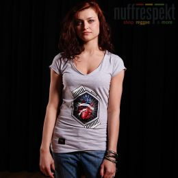 Top - Nuff Wear Heart tshirt 01713 - gray